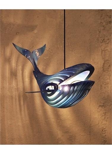 Maxmillen Pento Balina Sarkıt Aydınlatma - Renkli Mavi
